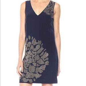 NWT Trina Turk Glitterati Silk Dress